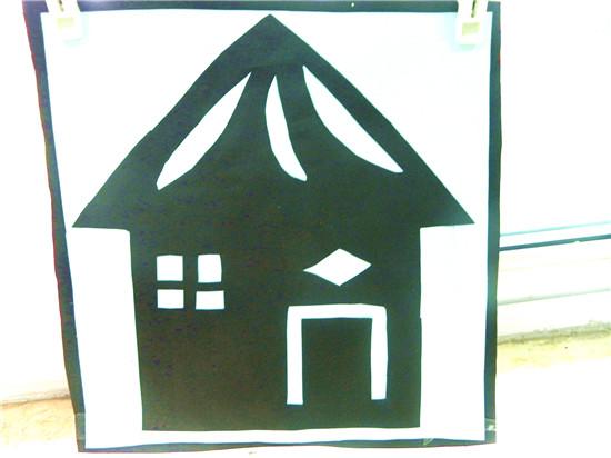 剪纸房子--蓝班元宝