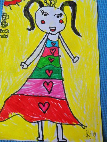 美术《我长大了》自画像