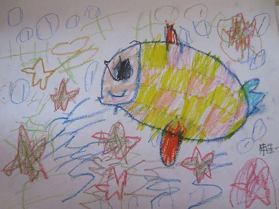 幼儿鱼画画图片大全