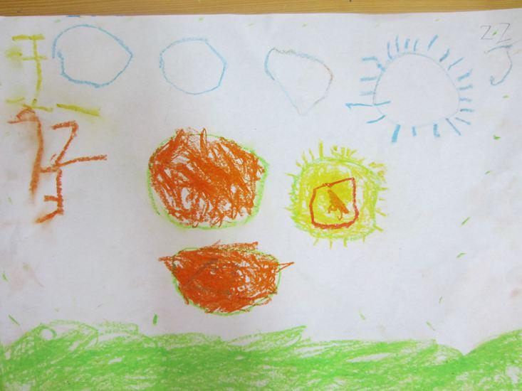 团圆月饼儿童画