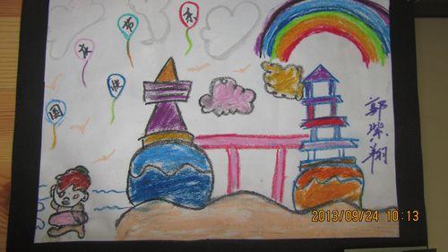 欢度国庆儿童画;