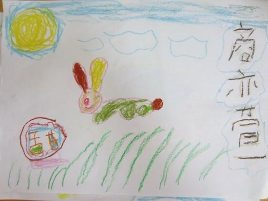 中秋儿童画蜡笔