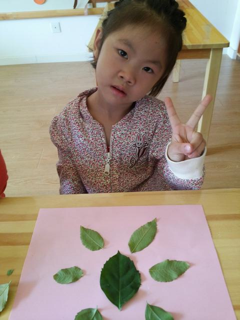 我们的树叶粘贴画 _ 红黄蓝|早教|早教中心