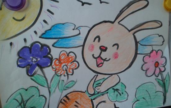 儿童画兔子萝卜