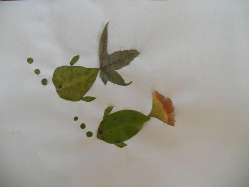 树叶粘贴画