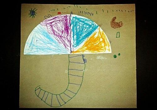 伞柄的线条画得很有特色呢.图片
