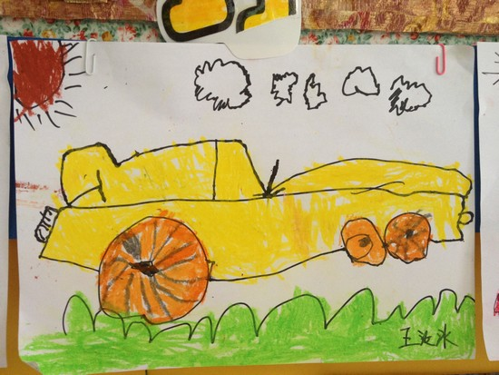 快乐的国庆节儿童画-我爱祖国