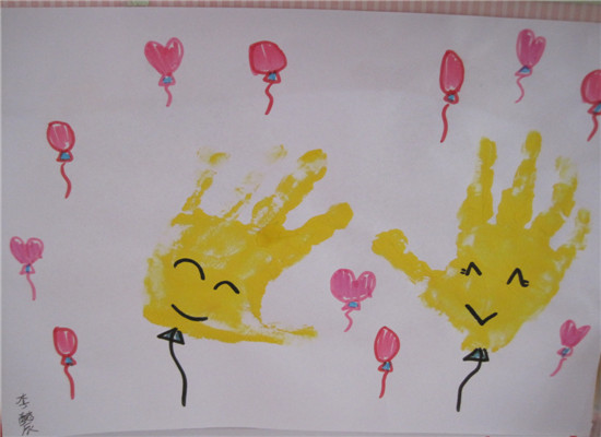 手掌印画——可爱气球