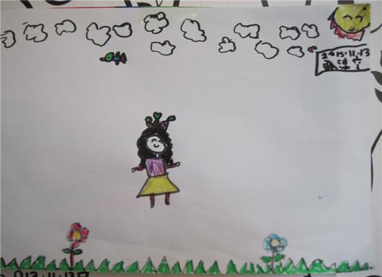 绘画 小公主