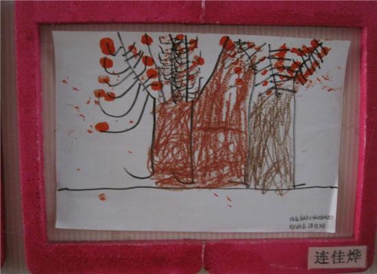 手指印画——树图片