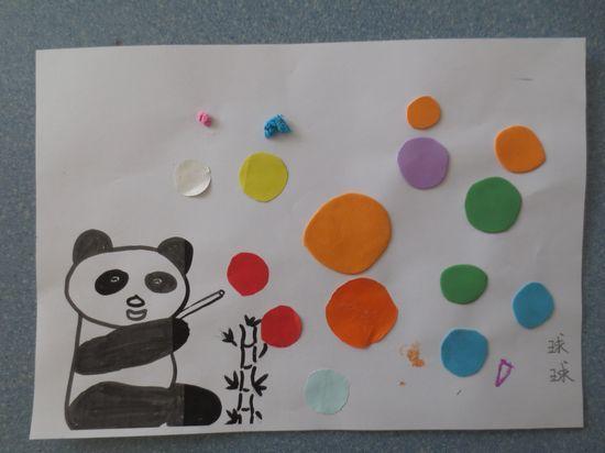 熊猫吹泡泡; 熊猫吹泡泡简笔画;