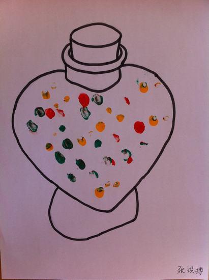 手指点画:可爱的糖果罐(6)
