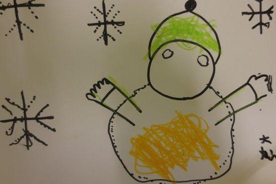 带步骤的雪花幼儿园小朋友画的