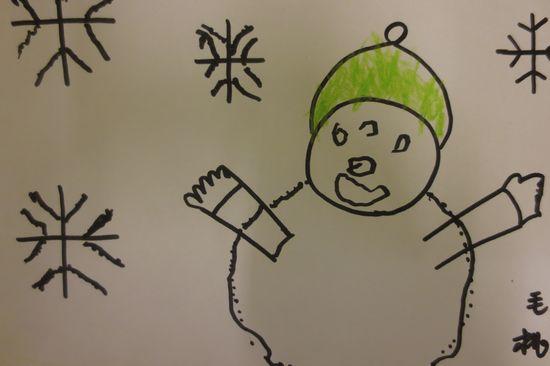 小朋友的小雪人