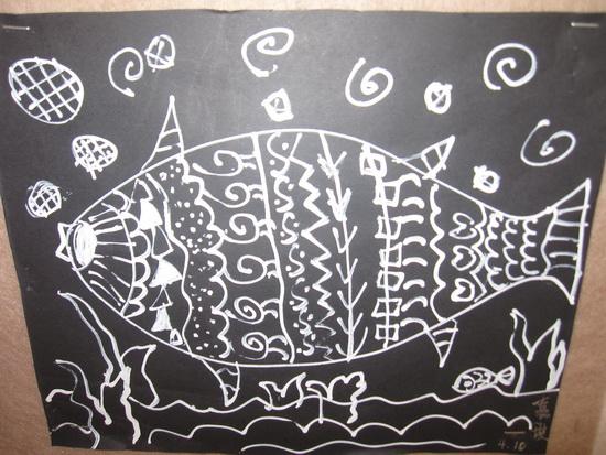 海底世界黑白画 - 奇酷啦邪恶图片!