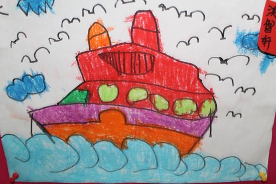 船儿童画大全图片