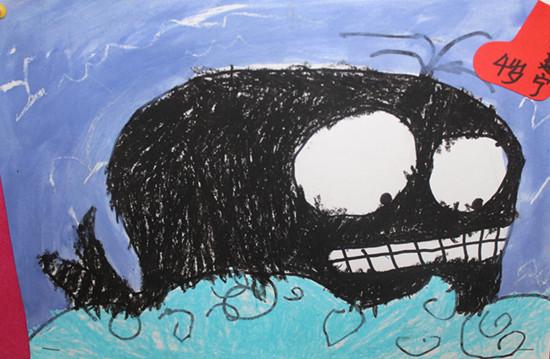 手画可爱的小鲸鱼