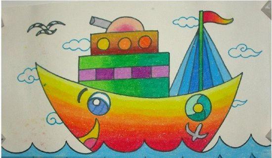 船儿童画-船图片