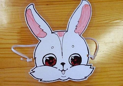 小兔子头饰-粉一班
