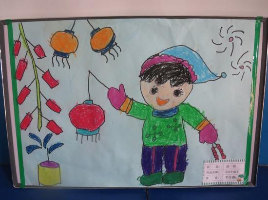 关于春节的画儿童画