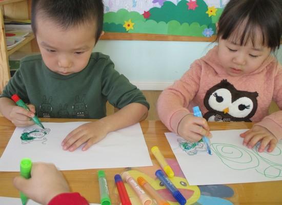 儿童手工毛线 画画
