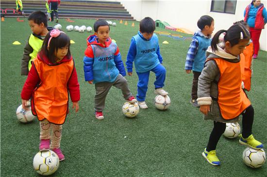 幼儿园的多彩活动——足球课