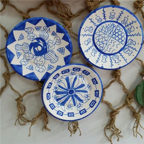 纸艺——青花瓷盘子