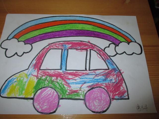 可爱的汽车儿童画
