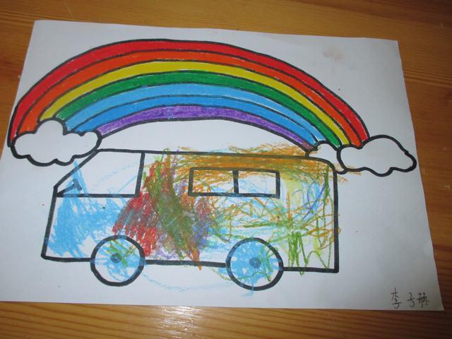 儿童画画彩虹图片大全