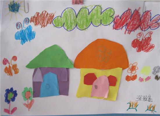 理想的房子儿童画