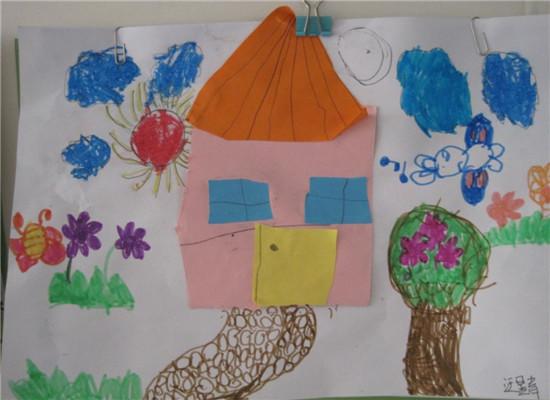 大班房子绘画图片