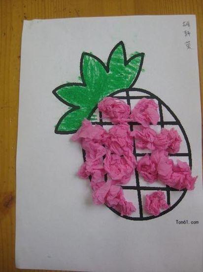菠萝房子儿童画