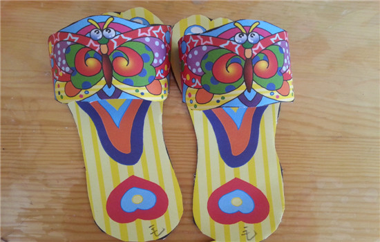 毛线棉鞋动物图纸展示