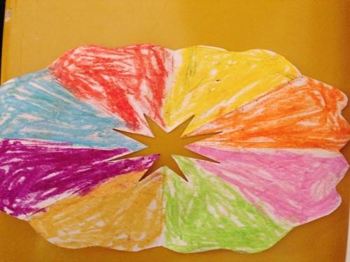 手工作品,春天的花——黄班