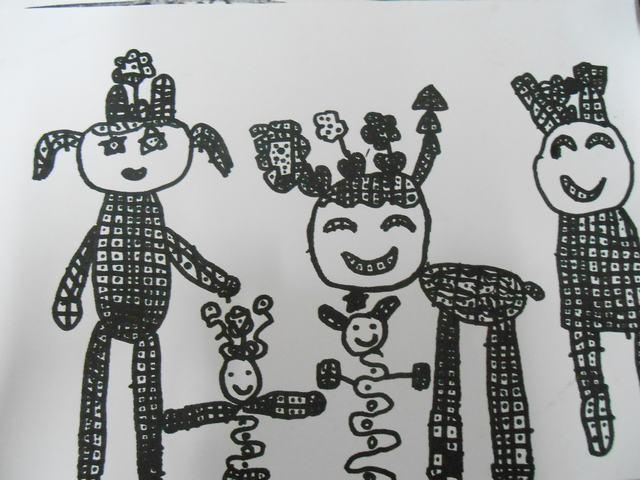儿童画线条图画; 儿童创意线条画图片