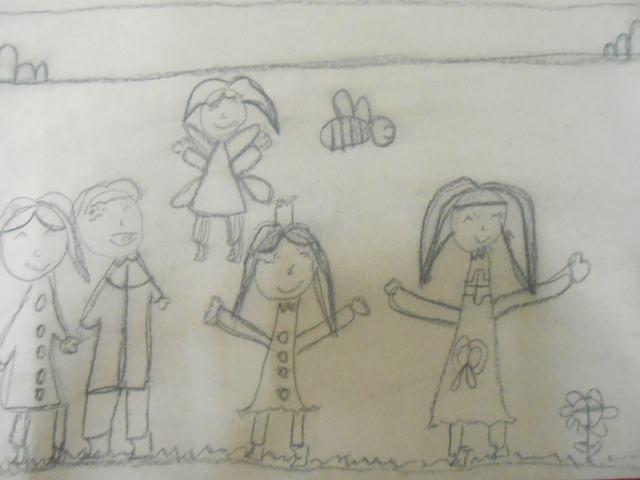 牛皮纸画我的一家人