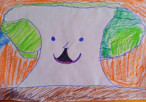 理想大树房子儿童画