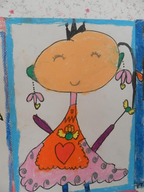 儿童画绵竹明珠塔