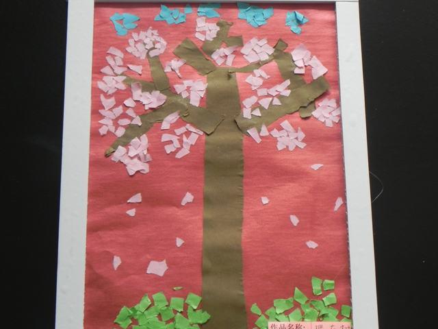 幼儿园大班撕纸粘贴动物画作品