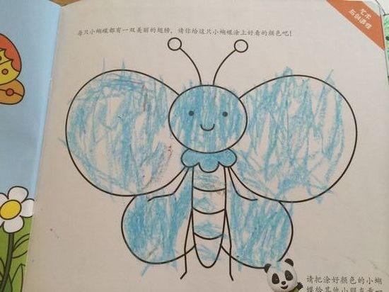 幼儿园儿童画动物蝴蝶