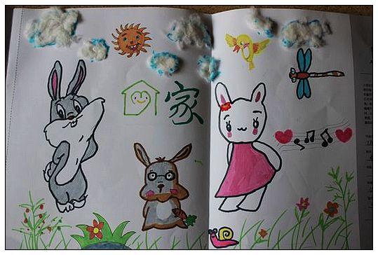 安奈儿亲子作品——可爱的小兔子(一)