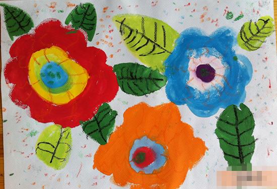水粉画--花团锦簇