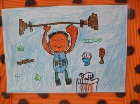 美食的海报儿童画