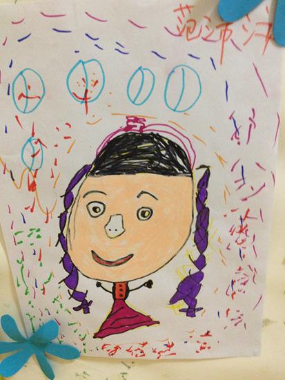 我的自画像 _ 红黄蓝|早教|早教中心
