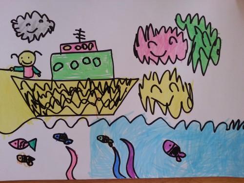 美美说:海底的小动物们会过得很快乐!