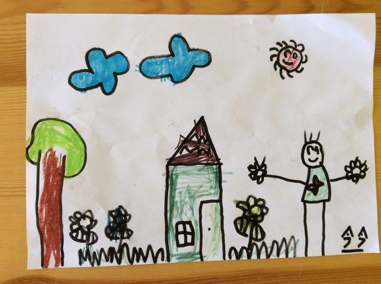 兒童創意手工服裝設計圖箱子做