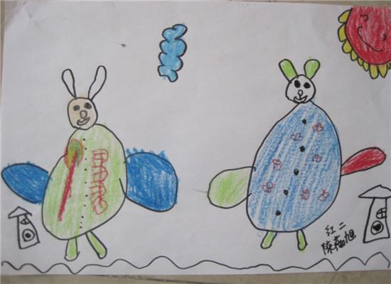 薇旭作品——《小兔子》-小小绘画展系列 一