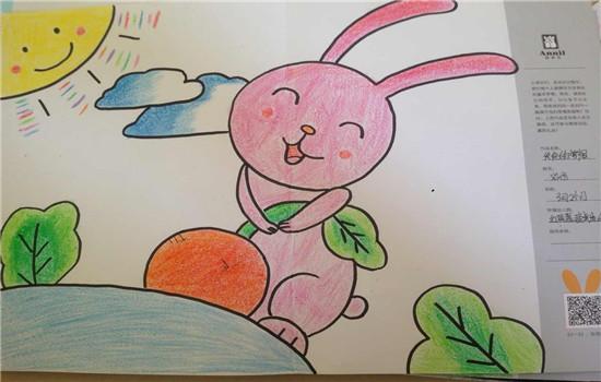 红二班 刘彤 小兔子拔萝卜