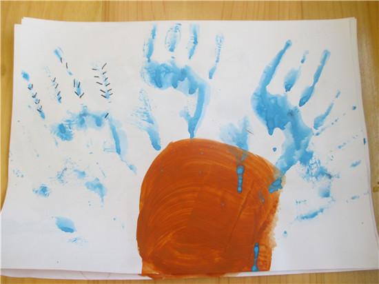 手掌画《仙人掌》 _ 红黄蓝|早教|早教中心