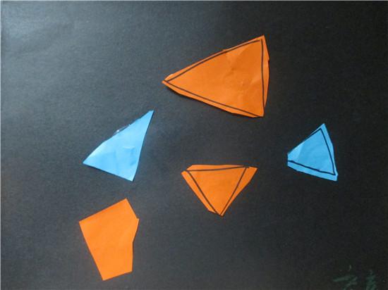 幼儿园用三角形拼的图案